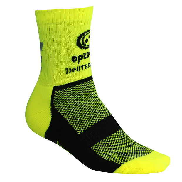 Optimum Nitebrite Cycling Socks Fluro Yellow
