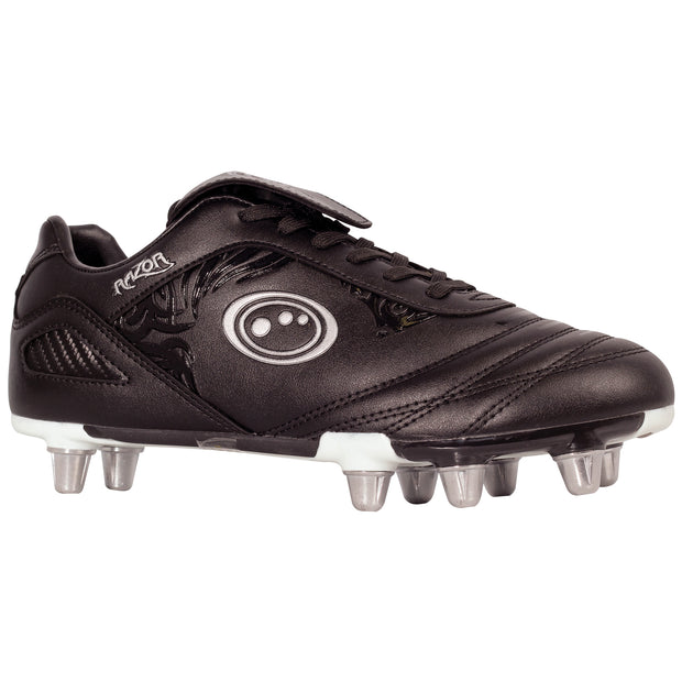 Optimum Senior Razor Rugby Boot Black/Silver