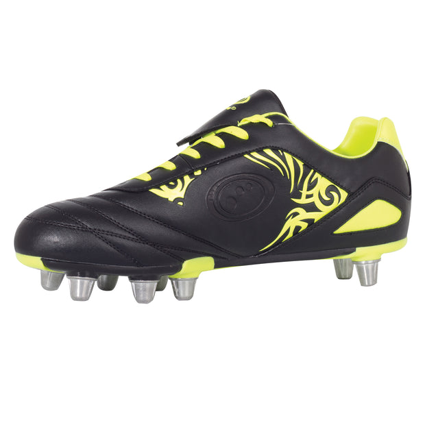 Optimum Razor Rugby Boot Black/Yellow