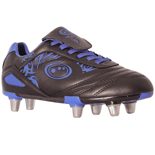 Optimum Junior Razor Rugby Boot Black / Blue