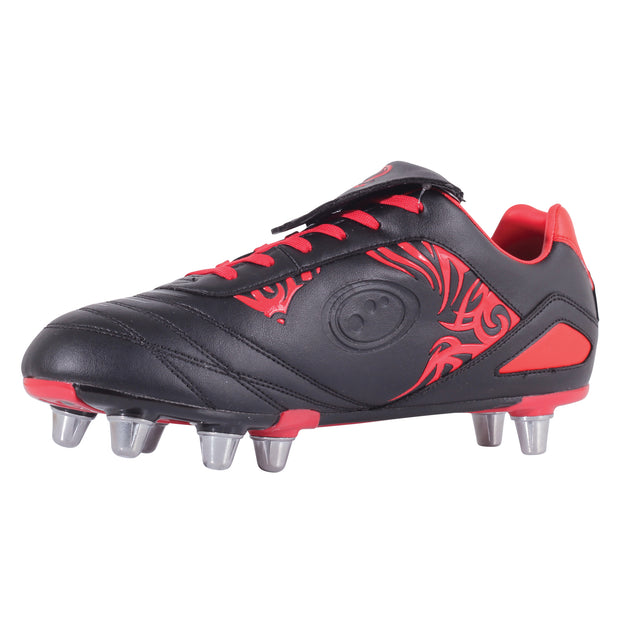Senior Razor Rugby Boot  Black/Red