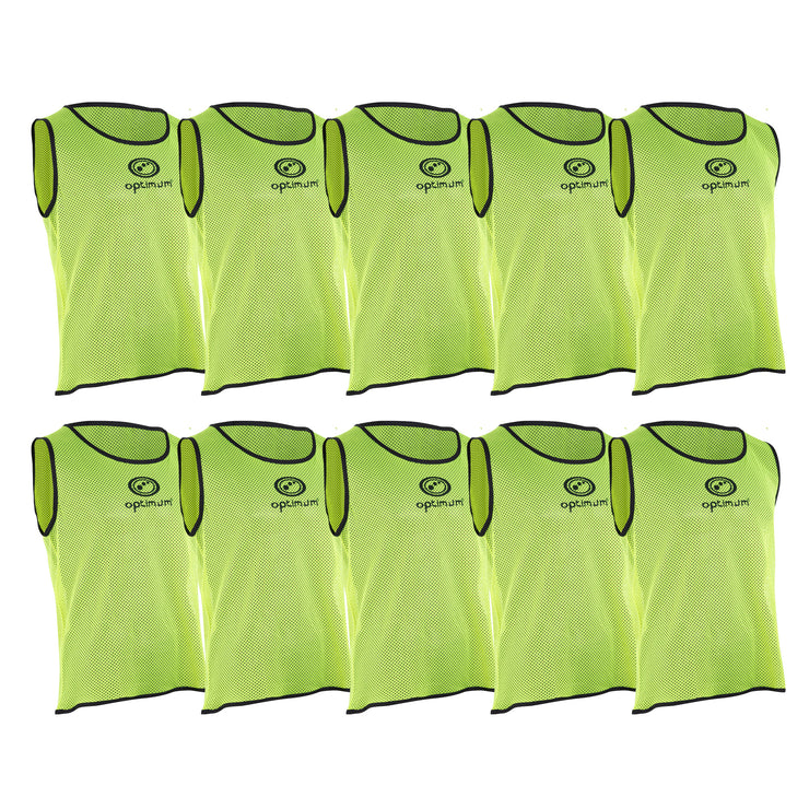 Optimum Yellow Training Bibs 6 Pack