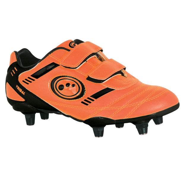 Optimum Junior Tribal Football Boot 6 Stud Orange/Black