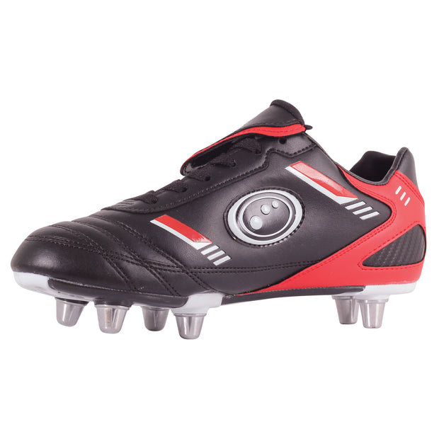 Optimum Junior Tribal Rugby Boot Black / Red