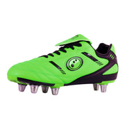 Junior Tribal Rugby Boot - Fluro Green/Black