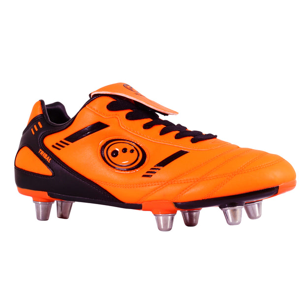Optimum Junior Tribal Rugby Boot Fluro Orange/Black