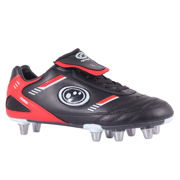 Optimum Senior Tribal Rugby Boot Black / Red