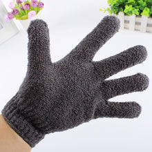 Load image into Gallery viewer, Glamza Bamboo Charcoal Exfoliating Gloves