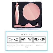 Load image into Gallery viewer, Glamza Magnetic Eyeliner, Eyelash & Tweezer Set