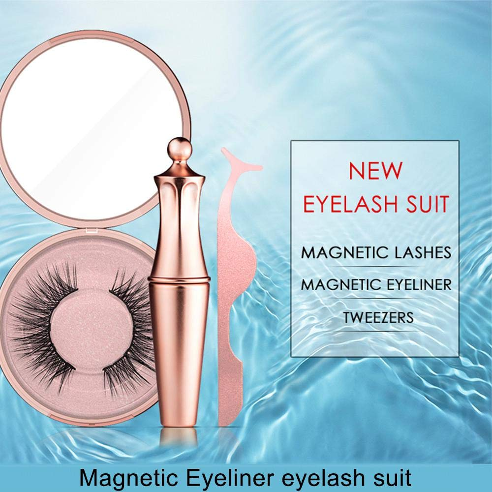 Glamza Magnetic Eyeliner, Eyelash & Tweezer Set