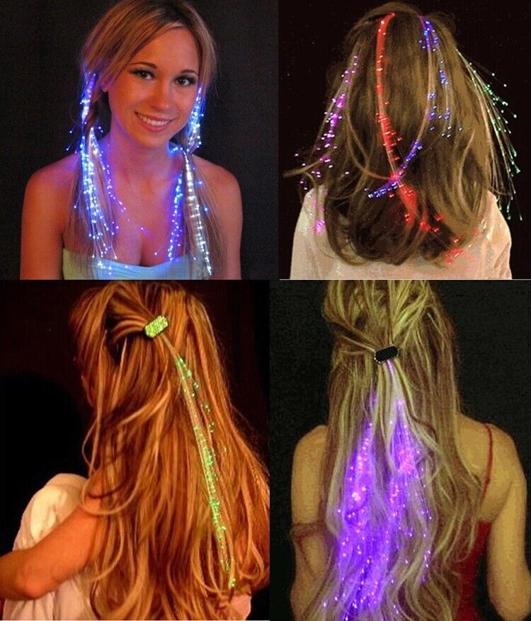LED Hair Extensions by Glamza Beauty