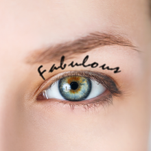 Load image into Gallery viewer, Waterproof Eyebrow Tattoo Words