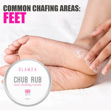 Load image into Gallery viewer, Glamza Chub Rub Anti Chafing Cream Smooth Skin Full Body Solution Sports Running Hands Feet Care 50g