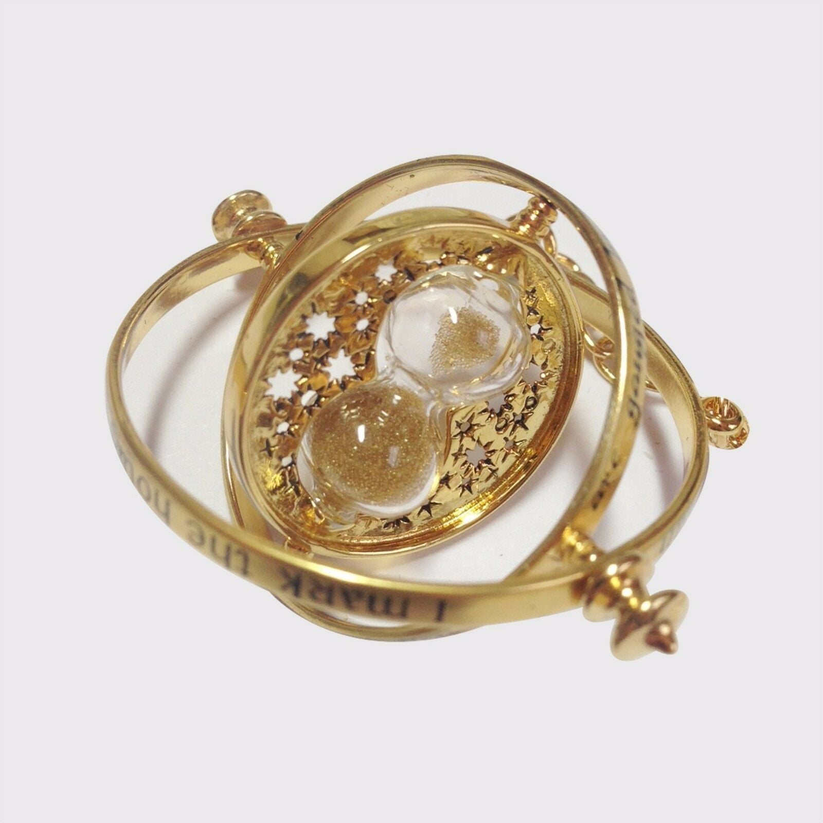 Gold Plated Time Turner Necklace by Glamza Beauty