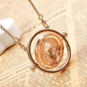 Gold Plated Time Turner Necklace