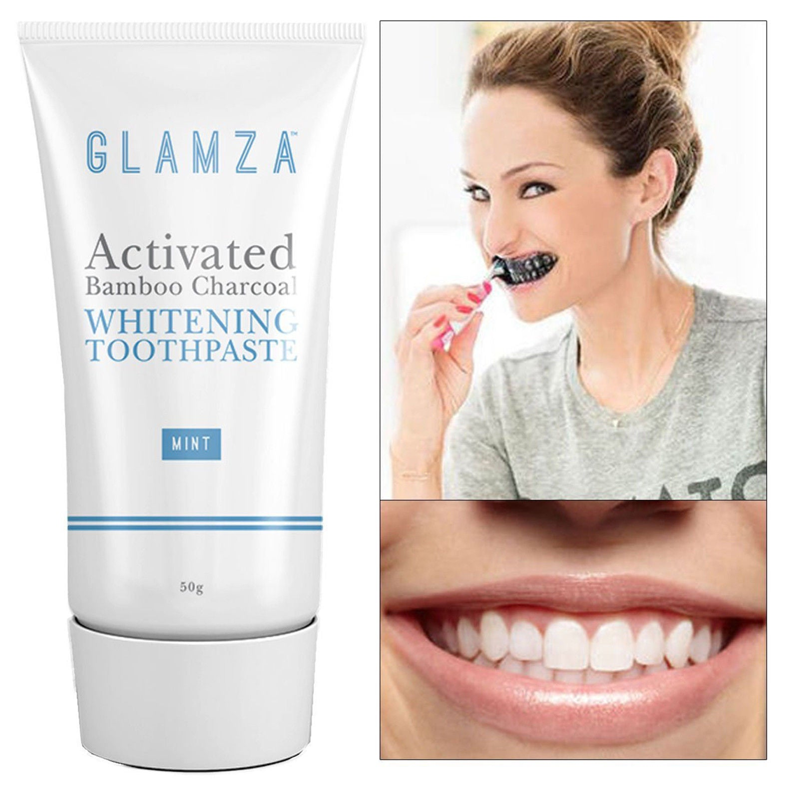 Glamza Activated Charcoal Toothpaste - Mint by  Glamza Beauty