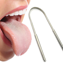 Load image into Gallery viewer, GLAMZA Stainless Steel Tongue Scraper