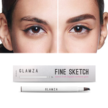 Load image into Gallery viewer, Glamza Fine Sketch Tattoo Fork Liquid Eyebrow Pen