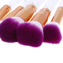 Load image into Gallery viewer, Glamza 10pc Marble Makeup Brush Set