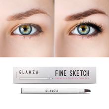 Load image into Gallery viewer, Glamza Fine Ketch Tattoo Fork Liquid Eyebrow Pen