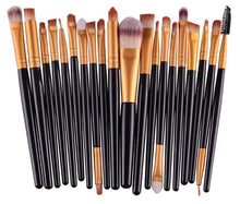 Load image into Gallery viewer, Glamza 20pc Makeup Brush Set Black