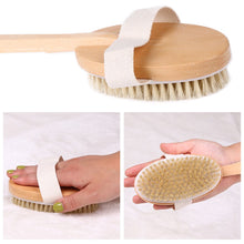 Load image into Gallery viewer, Glamza Pro Long Handle Dry Skin Body Brush