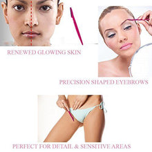 Load image into Gallery viewer, Glamza Eyebrow Shaper & Dermaplaning Portable Razor Tool