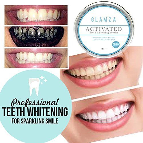 Glamza Activated Charcoal Teeth Whitening Powder - 50g