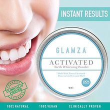 Load image into Gallery viewer, Glamza Activated Charcoal Teeth Whitening Powder - 50g
