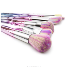 Load image into Gallery viewer, 7PCS Twist Pink Diamond Makeup Brush Set