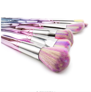7PCS Twist Pink Diamond Makeup Brush Set