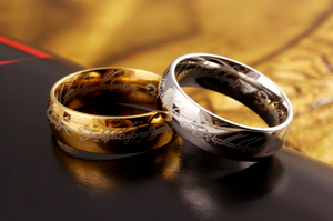 Mens Lord Vintage Stainless Steel Rings Bilbo's Hobbit Ring Gold