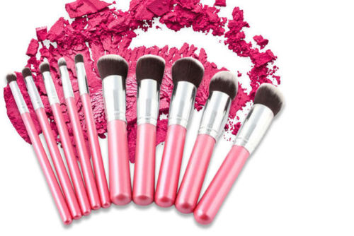 Glamza Pink Brush Set 10pc