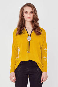 Lemon Tree Heart Jumper