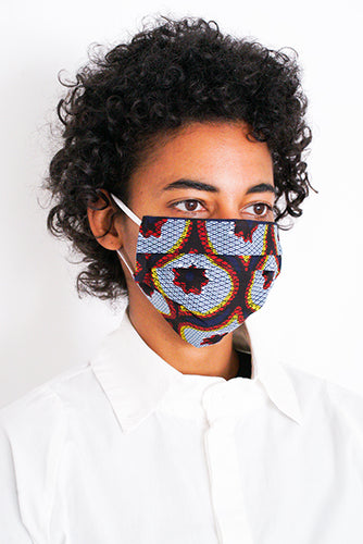 PLEATED COTTON MASK with elastic
