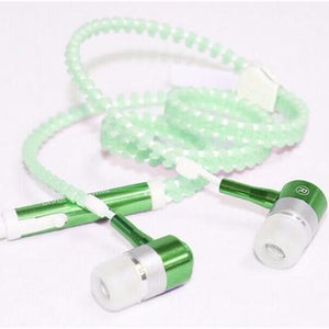 GLOWING ZIPPER EARPHONES