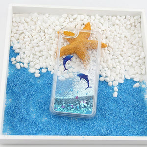 OCEAN ANIMALS GLITTER IPHONE CASE