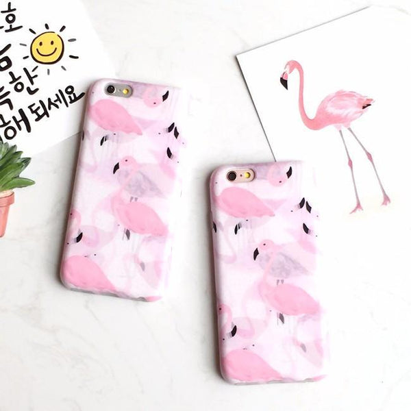 PASTEL FLAMINGO IPHONE CASE