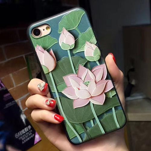 PINK LOTUS IPHONE CASE