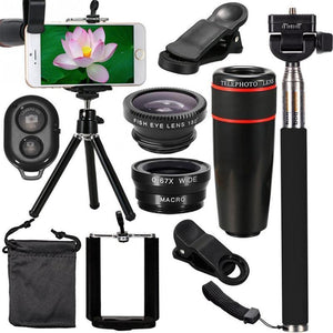 Upgrade Now & Get This Pro Deluxe Lens Kit Including HD ZOOM 360, PLUS a FishEye Lens, PLUS a WIDE Angle Lens + You Get A TRIPOD & BLUETOOTH Remote For The Ultimate In Smartphone Pics & Vids!  Click ADD To CART Now To Get FREE Shipping Too!