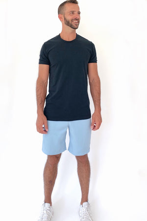 "the ""Waino"" men's shorts in blue - recovery wear clothing"
