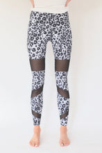 "Load image into Gallery viewer, the ""christy"" leopard leggings - front view - recovery wear clothing"