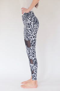 "the ""christy"" leopard leggings - side view - recovery wear clothing"