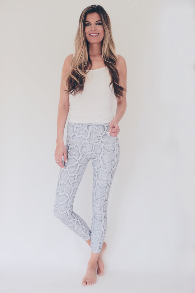 "the ""jess"" snakeskin leggings - full view - recovery wear clothing"