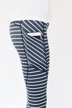 "Load image into Gallery viewer, The ""Tiffany"" Striped Capri Leggings"