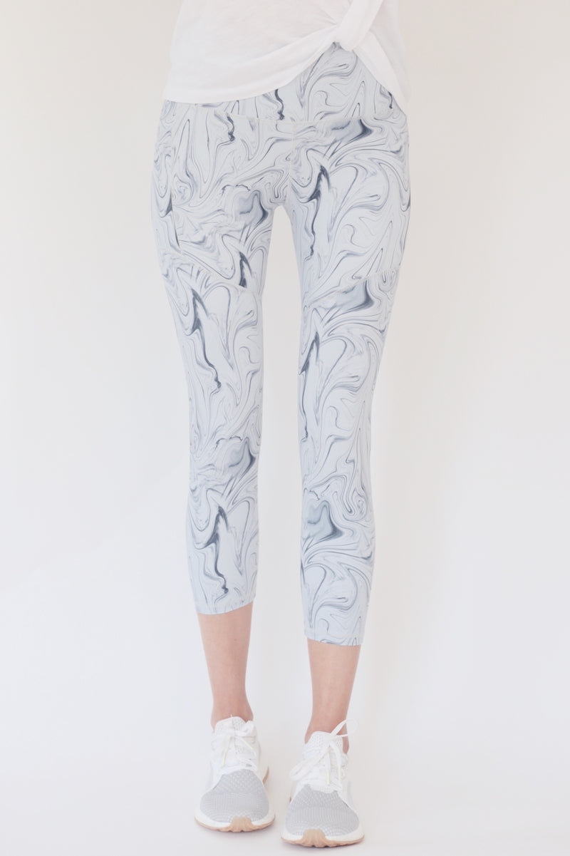 "the ""Veronica"" swirl capri leggings from recovery wear clothing"