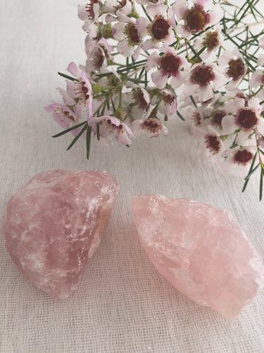 Rose Quartz- raw chunks