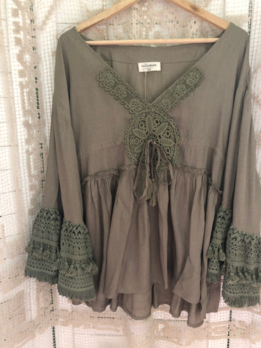 Cruz Top- Olive Talisman