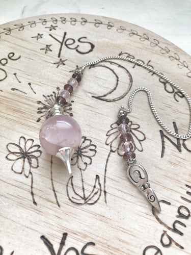 Rose Quartz Sphere Pendulum