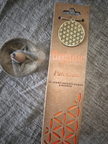 Organic Goodness Incense Cones-Patchouli